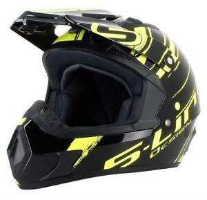 Casque-Moto-cross-S-line-S813N-Noir-Deco-Jaune-Fluo