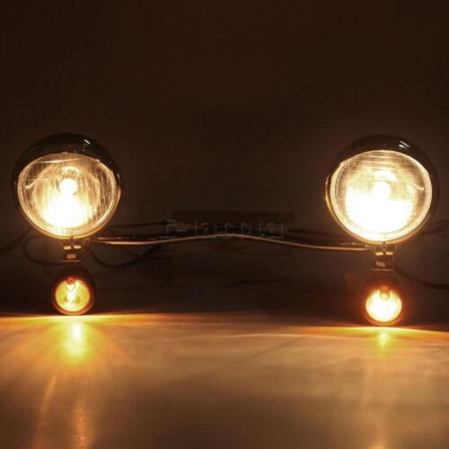 Passing Driving Spot Light Bar fit for Suzuki Intruder Volusia Marauder Savage