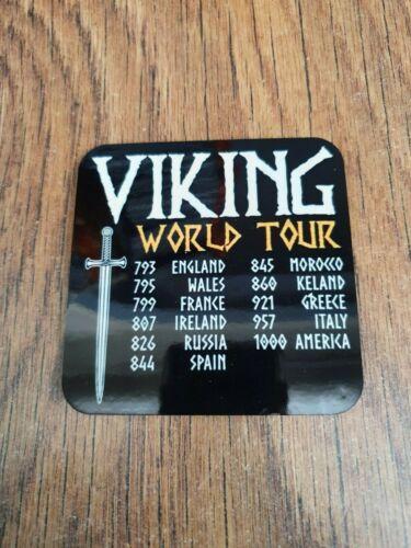 VIKINGS RAIDING NORSE FLOKI RAGNAR  DRINKS COASTER BEER MAT VIKING WORLD TOUR