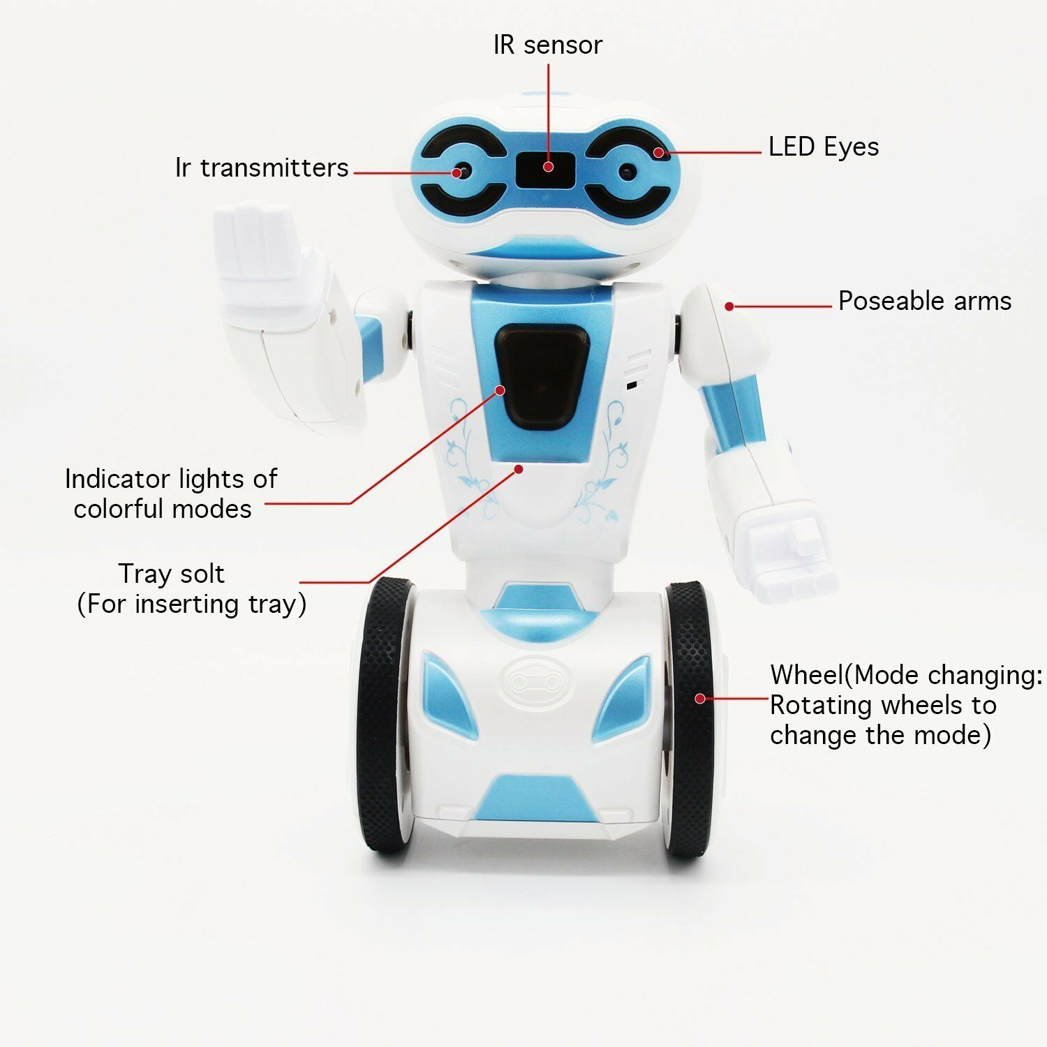 Hi-Tech 2.4GHz Wireless Remote Control Toys Smart Robot, Interactive Interactive Interactive Robot for K f3f3a8