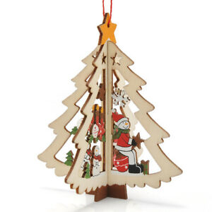 ... Clochette Etoile Arbre Noel Bois Ornement Suspendu Decor