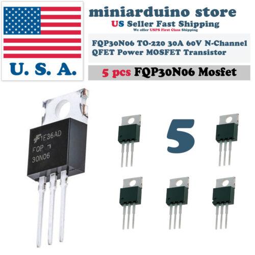 5 x FQP30N06 Transistor Power MOSFET N Channel 60V 30A 30N06 Fairchild