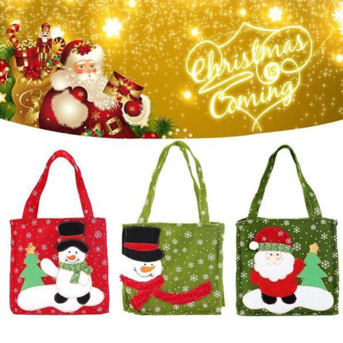 Wonderful Xmas Santa Claus Gift Bags Merry Christmas Candy Bags Decoration DF