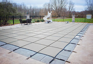 Hpi Rectangle Gray Mesh In Ground Swimming Pool Safety