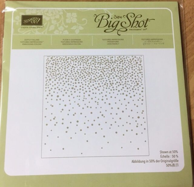 stampin up softly falling embossing folder textured impressions 6x6