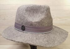 8949a0727 Vince Camuto 100 Wool Banded Travelers Panama Hat Grey Gray | eBay