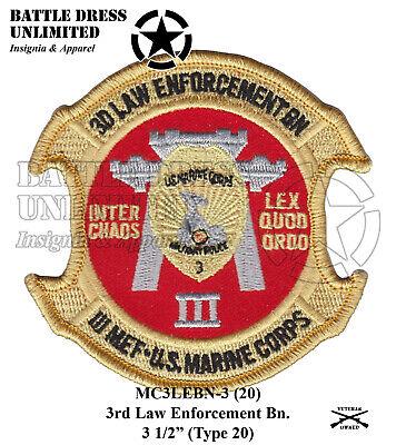 USMC MP Badge Marine Corps Military Police Law Enforcement Patch Set