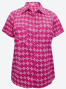 Ladies-Shirt-Plus-Size-22-24-26-28-30-32-34-36-38-40-42-Cotton-Blouse-Top-220