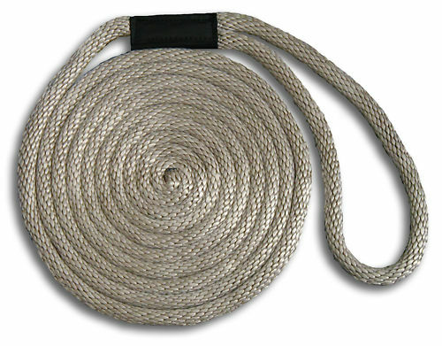 """Made in USA Silver 5//8/"""" x 10/' Solid Braid Dock Lines"""