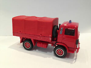 Vintage Solido Toy Truck Car Fire Engine Army Renault