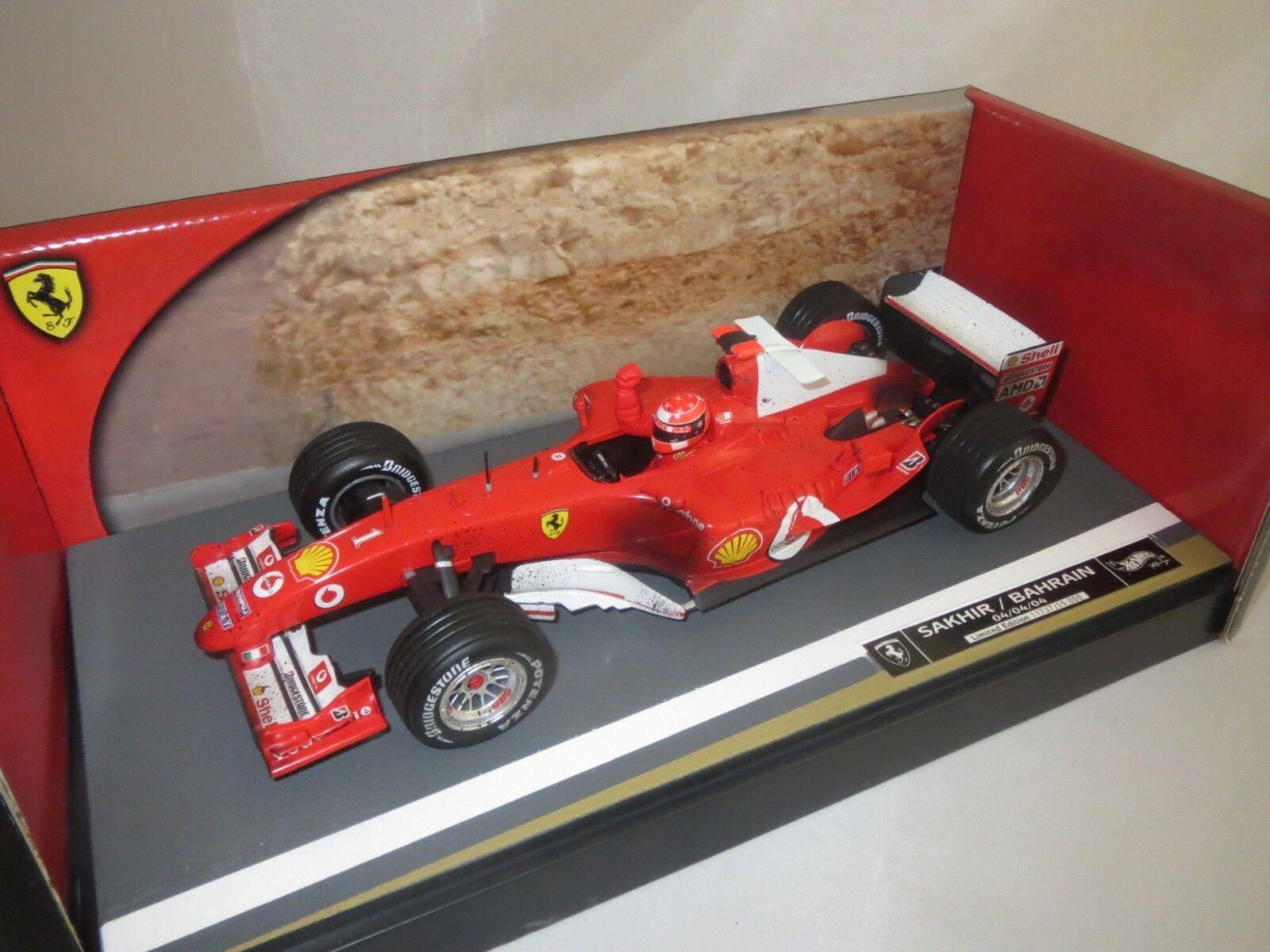 Mattel b6222  M. SCHUMACHER   1 (Sakhir Bahreïn)  f2004  1 18 neuf dans sa boîte (f21)