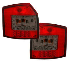 Back Rear Tail Lights LED In Red-Black For Audi A4 B6 Avant 09/01-10/04
