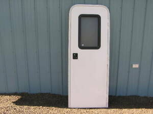 RV-Motor-Home-Trailer-Camper-Complete-Entrance-Door-Window-Lock-w-key-Screen-Jam