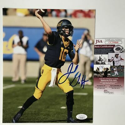 Autographed/Signed JARED GOFF California Cal SMUDGED 8x10 ...