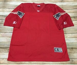 Details about Starter PATRIOTS PRO BOWL Jersey Blank AFC Red Rare Throwback NFL Vtg 90s XL 52
