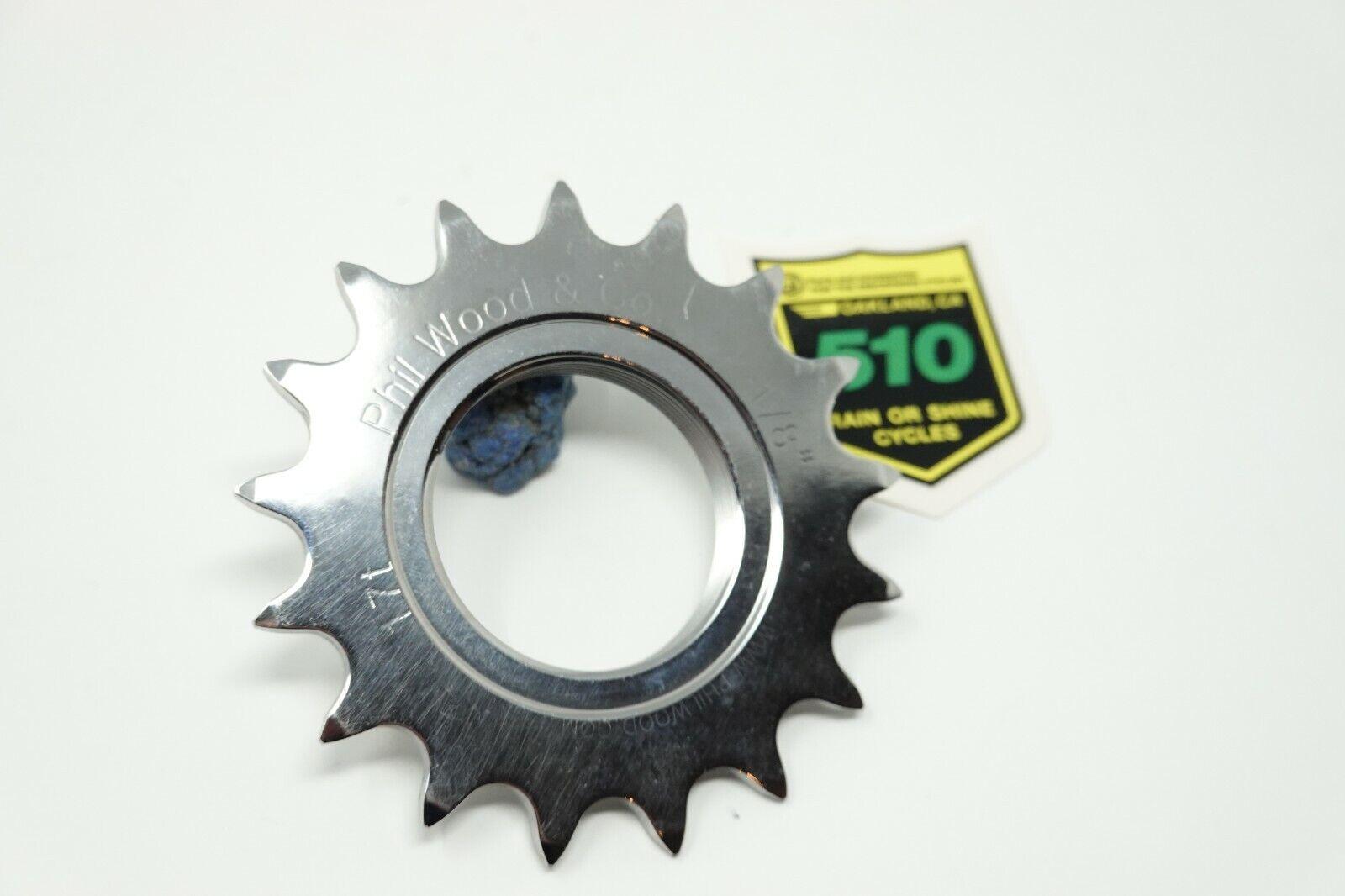 Phil Wood 17t 18 cog 17 fixed gear track nuovo fatto in USA