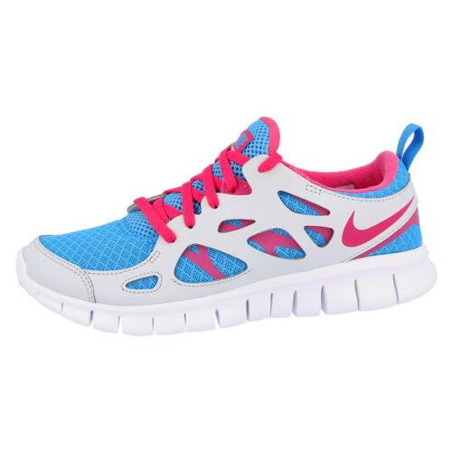 Nike Free run 2.0 GS Chaussures sneaker chaussures de course bleu rose gris 477701-400