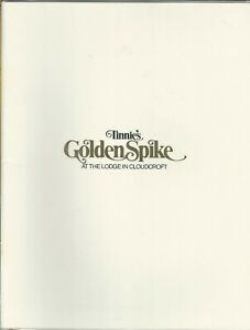 Vintage TINNIE'S GOLDEN SPIKE Menu Lodge at Cloudcroft New Mexico 1979