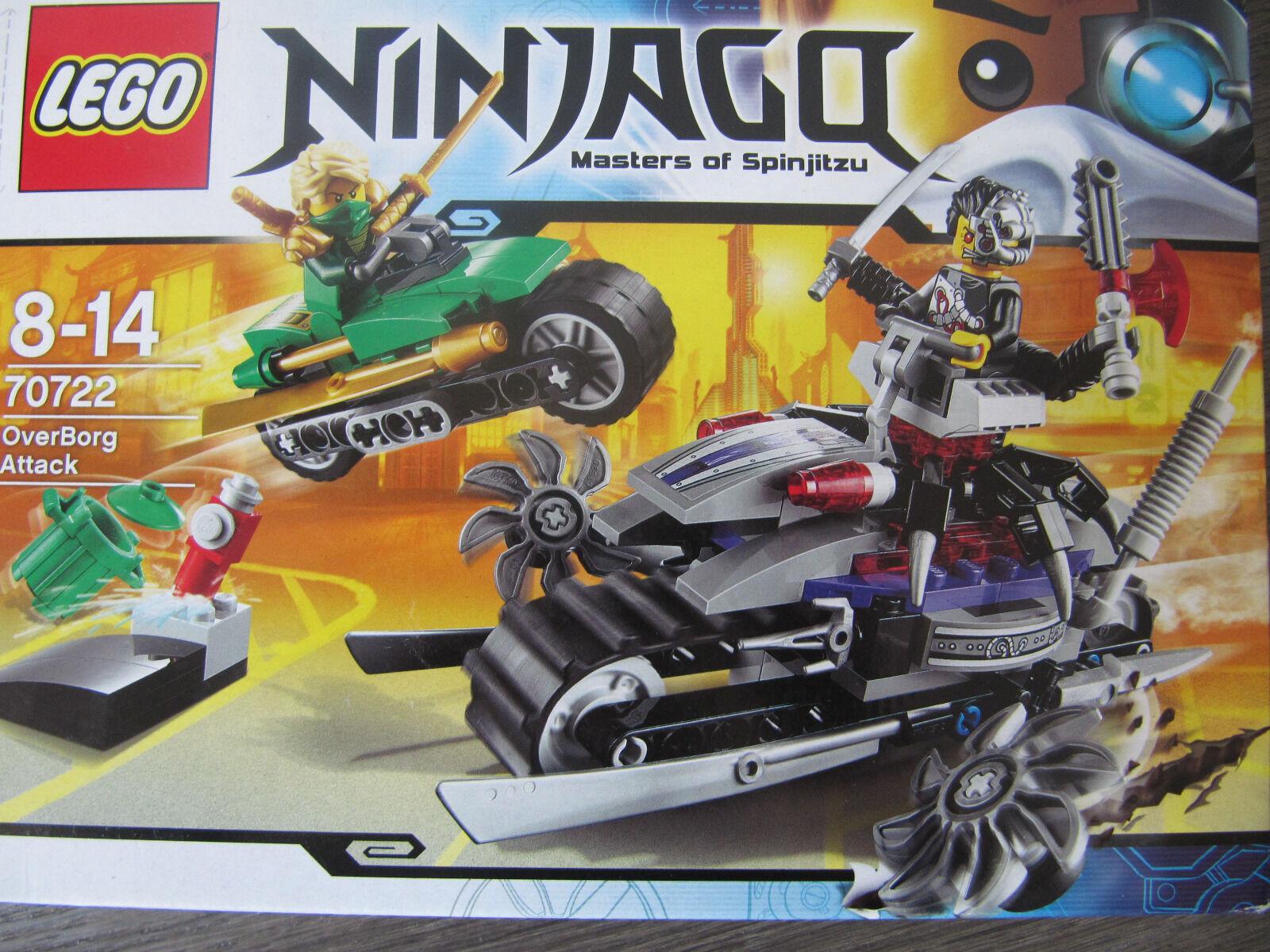 Lego Ninjago aus Sammlung 70722 OverBorg Attack komplett+Figuren+BA komplett+Figuren+BA komplett+Figuren+BA + OVP e3c505