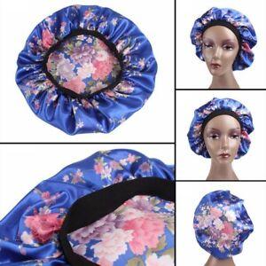 Moda-Noche-de-sueno-Hat-Senoras-turbante-Gorro-para-el-cabello-Satin-Bonnet