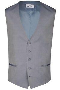 Wilvorst Herren Weste Hochzeitsanzug blau gemustert 497119 87 036