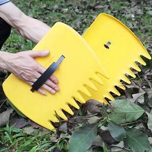 Leaf-Scoops-Garden-Lawn-Leaves-Grass-Hand-Rake-Scoop-Garbage-Grabber-Tool-Pair