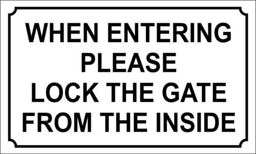 1 x custom sign