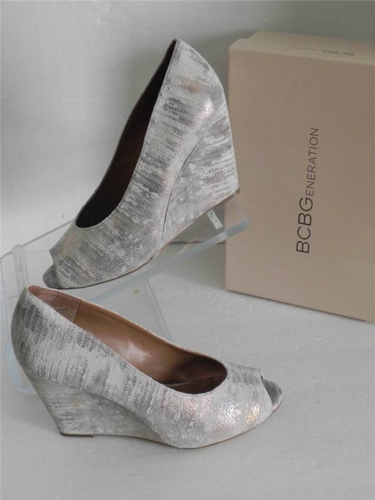 Bcbgeneration Natural Metallic Wedge Schuhes 11