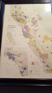 Details about CALIFORNIA WINE MAP Large 41-1/2