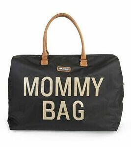 BORSA MAMMA CHILDWOOD MOMMY BAG FASCIATOIO- BLACK GOLD