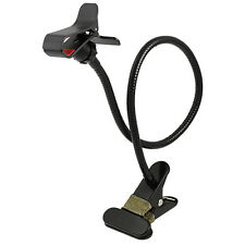 Universal Gooseneck Cell Phone Clip-on Stand Mount Black Smartphone Holder NEW!