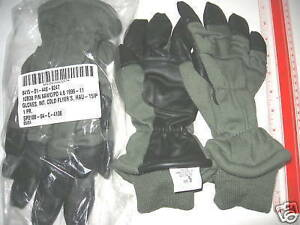 NEW-USAF-USN-COLD-NOMEX-amp-LEATHER-FLIGHT-GLOVES-SMALL