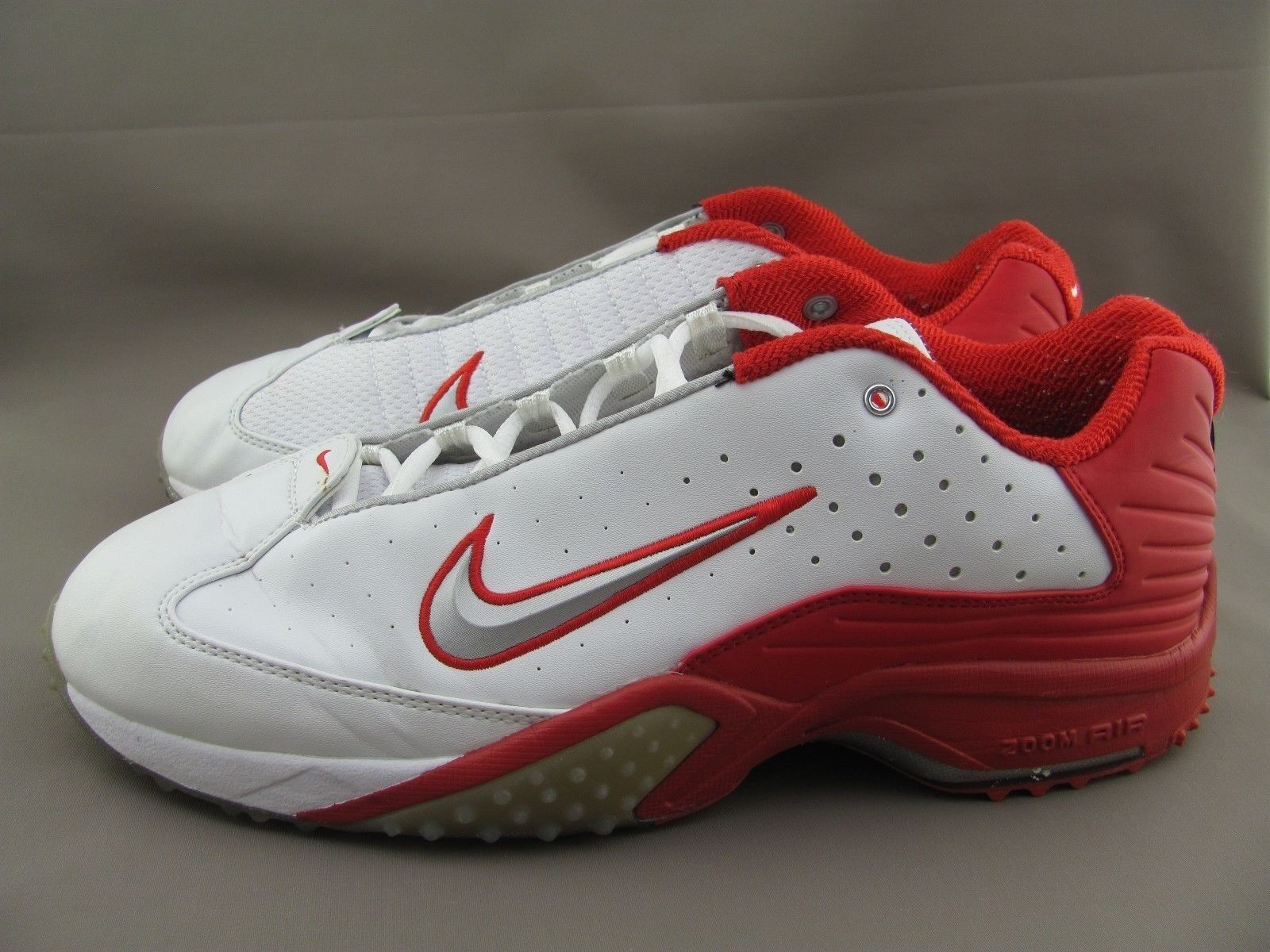 Nike Zoom Air Turf  White Red ( 030305 Y3)  US 13,
