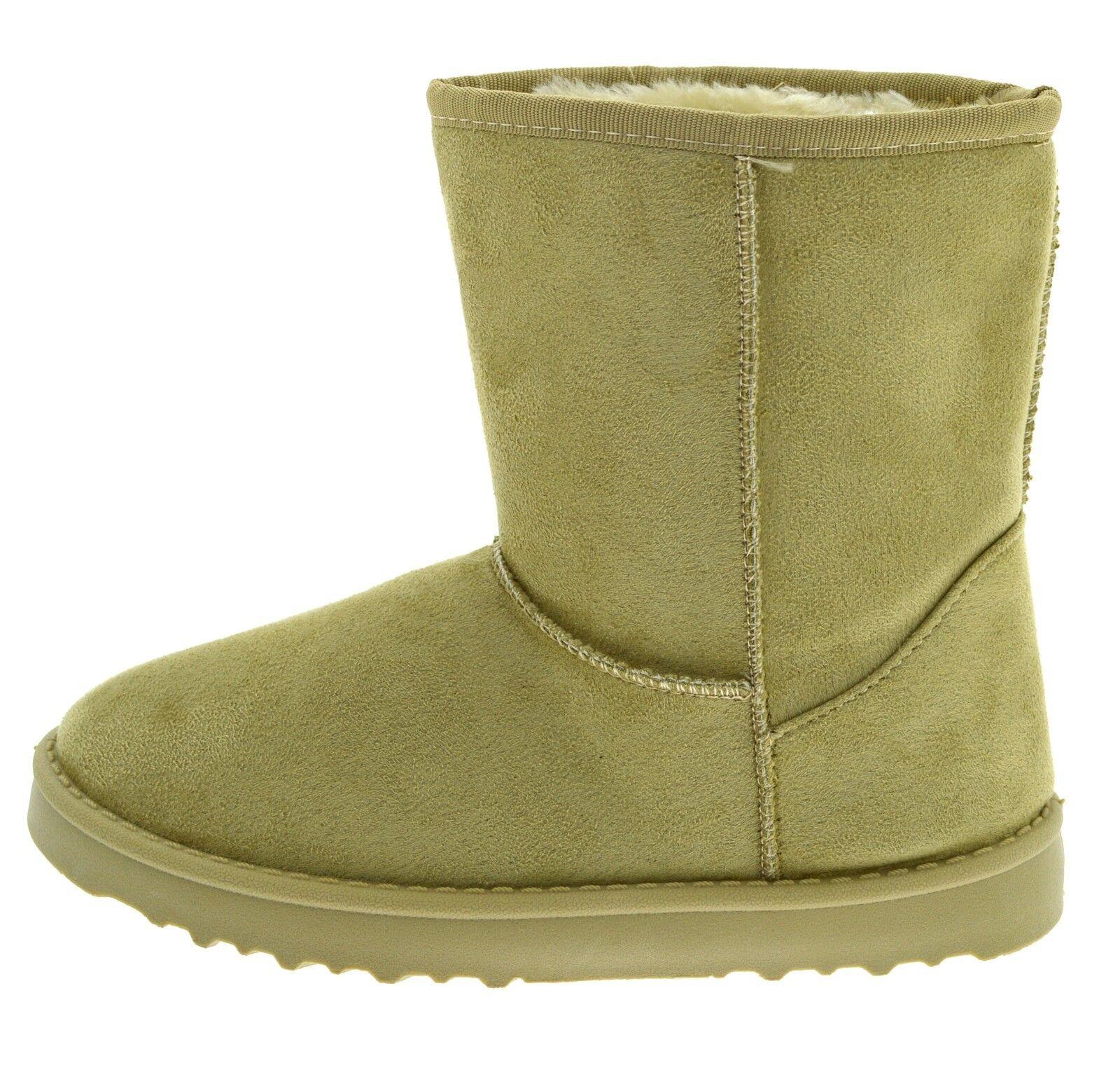 Stivaletti donna caldi imbottiti scarpe stivali da neve