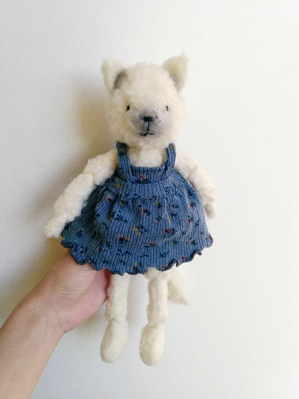 Handmade soft toy cat Lucy