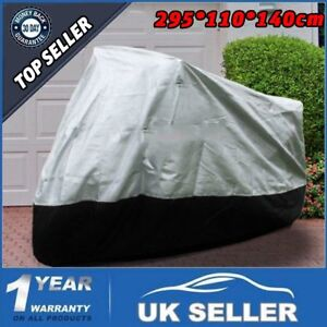 Motorcycle-Cover-Sun-Waterproof-Motorbike-Rain-Vented-Bike-Moped-Silver-XXXL-YT