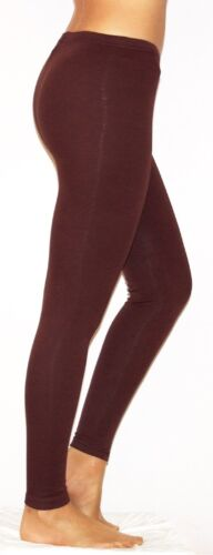 Womens Full Length Cotton Leggings Thick Warm Stretchy UK Size 6-28
