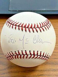 BOB MCCLURE SIGNED AUTOGRAPHED ONL BASEBALL!  Royals, Brewers, Expos, Cardinals!