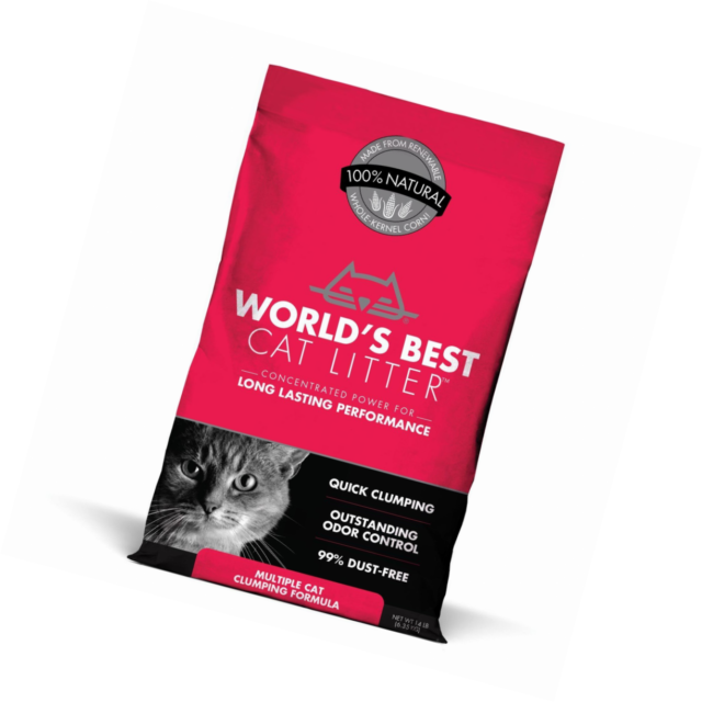 Worlds Best Cat Litter Scented Clumping Litter Formula for Multiple Cats 28-Pounds