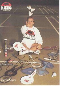 Uwe Scherpen  Badminton  Autogrammkarte original signiert 369568