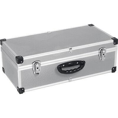 80 CD Aluminium Flight Carry Case Metal Lockable Tool Storage Electrician Box