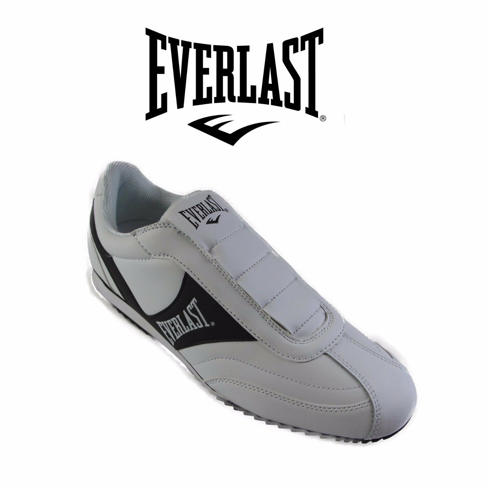 MENS EVERLAST TEMPO ATHLETIC SNEAKERS RUNNERS SHOES White Black