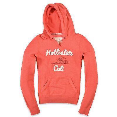 Hollister California Damen Hoodie Kapuzenpullover Gr.L (DE 40) Orange Rot, 39780 | eBay