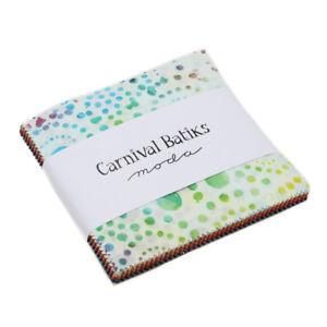 Moda-Charm-pack-Carnival-Batiks-by-Moda-42-5-034-cotton-quilt-squares-4348PP