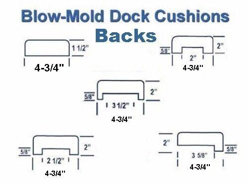 "2' Boat Dock Cushion Bumper Fits 2"" Flat Surface BM2-2"