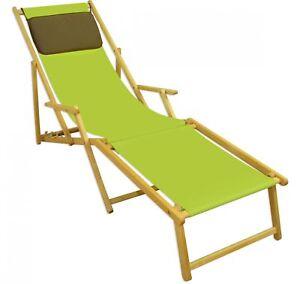 Liegestuhl Kissen Deckchair klappbar Sonnenliege Holz Gartenliege 10 ...