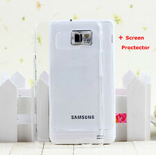 Transparent Hard Phone Case + Screen Protector for Samsung Galaxy S2 GT-I9100