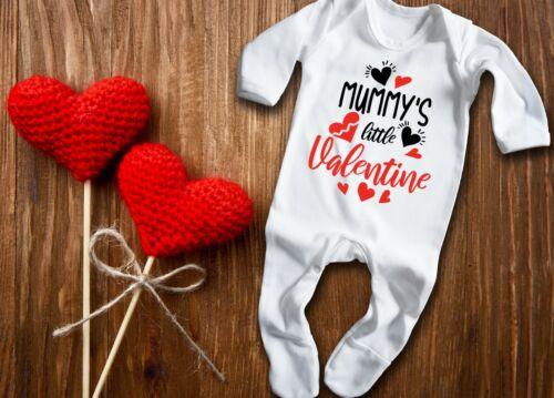 Mummy/'s Little San Valentín Blanco Larga Manga del bebé crezca rompersuit Pelele.