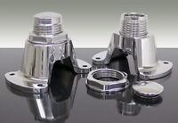 1962-67 Chevy Nova Shock Tower Brackets, Billet Aluminum, Adjustable, Limited