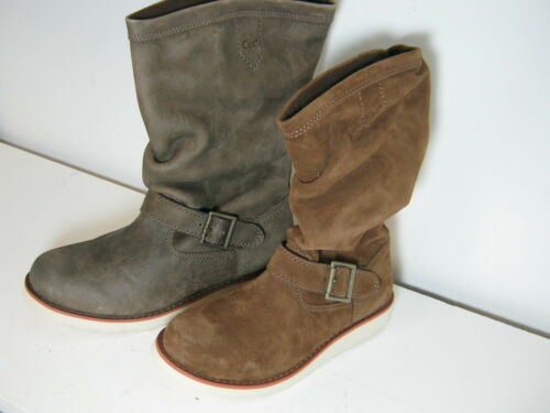 Long Caterpillar Claudette Boots Beaned Suede Leather Ladies Or Casual Cola UC8q5w
